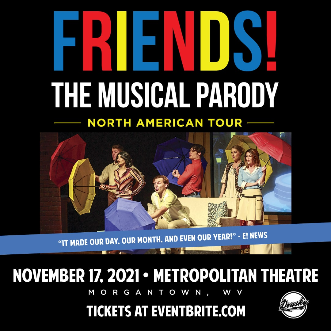 An event poster for FRIENDS! The Musical Parody.