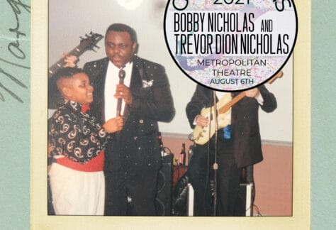 A poster for the Generations 2021 concert on August 6, 2021 at The Metropolitan Theatre.